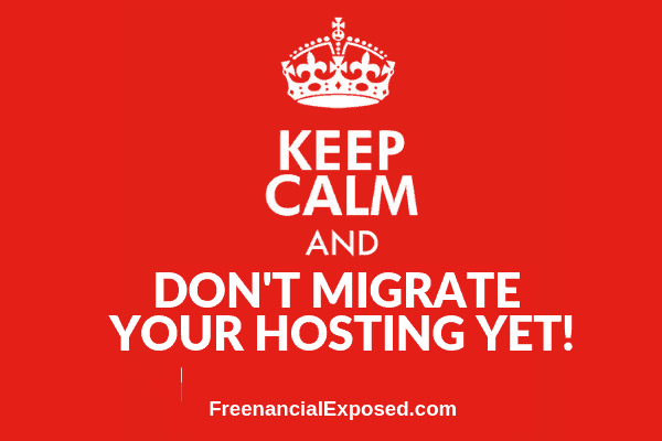 keep calm and do not migrate your hosting freenancial exposed