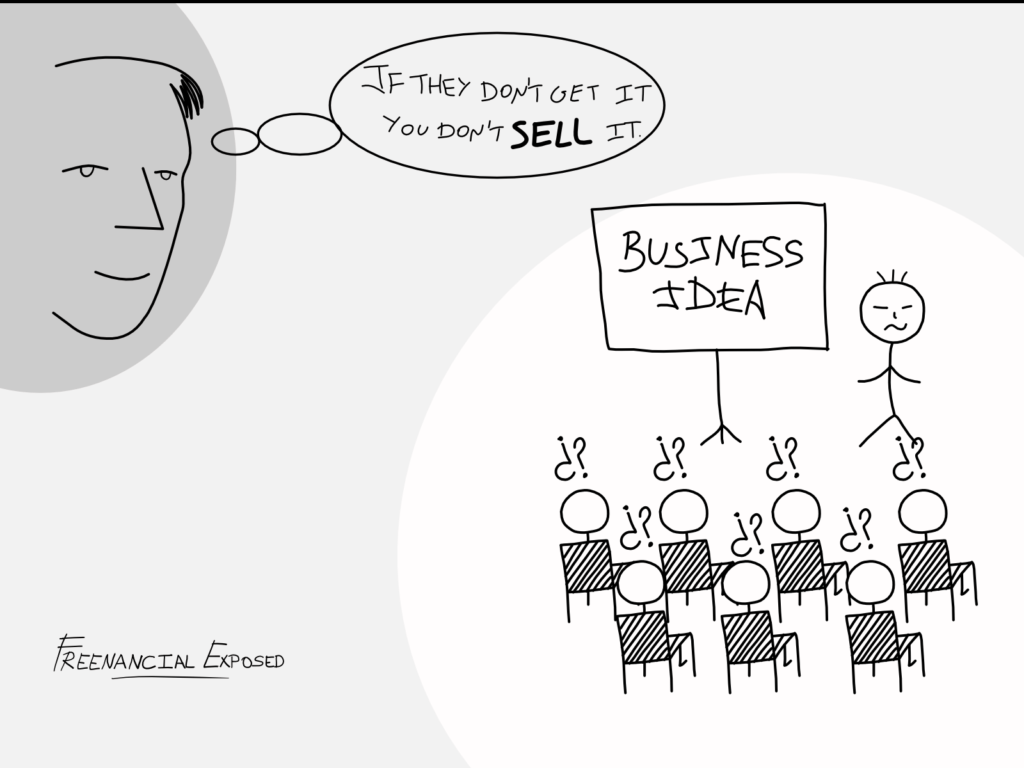 describe business idea and sell - freenancial exposed
